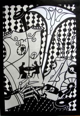Lillian Trettin art - narrative paper cut