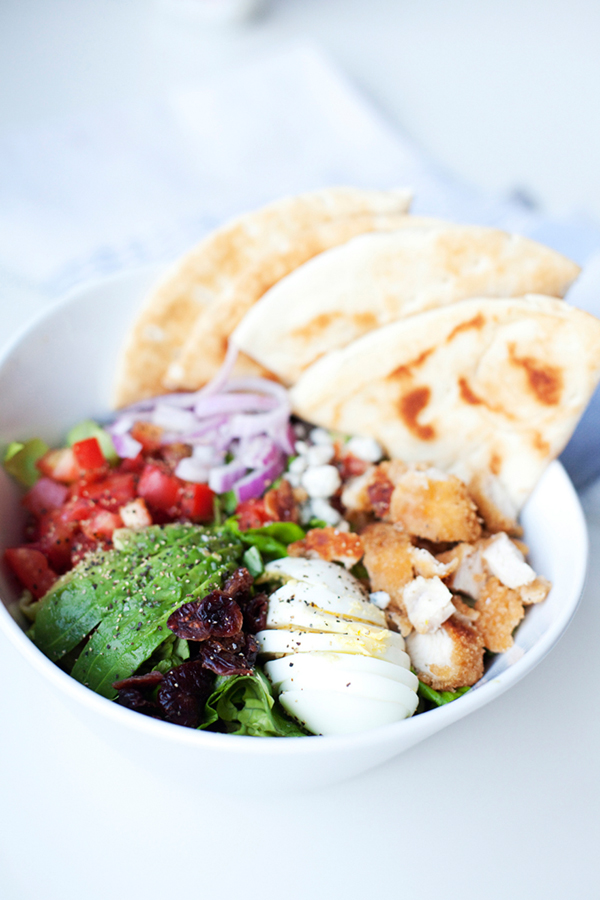 cobb salad in a bowl