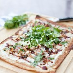 Macro-Friendly BBQ Chicken and Pear Pizza- 308 calories for the whole thing!
