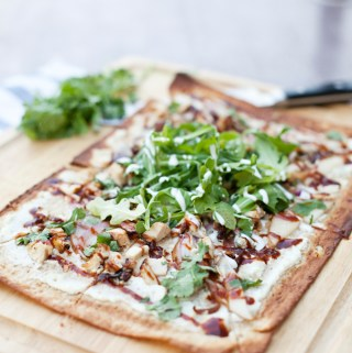 Macro-Friendly BBQ Chicken and Pear Pizza
