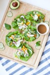 5 minute Thai Chicken Lettuce Wraps www.lillieeatsandtells.com