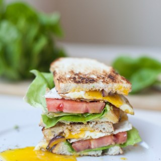 "BLT with Fried Egg and Fat Free Chipotle ""Mayo"""