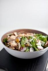 Farro, Arugula Salad with Lemon and Herbs- Macro Friendly www.lillieeatsandtells.com