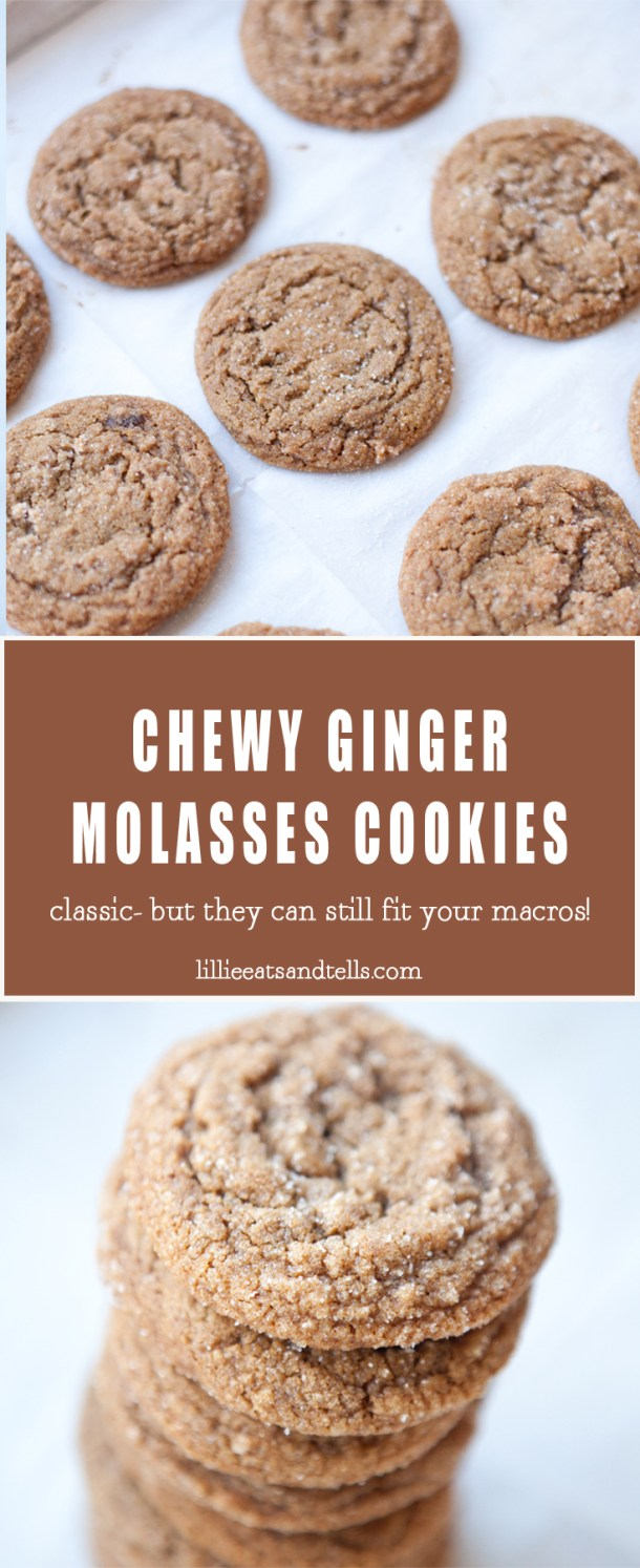 Non-macro friendly but they can still fit! Ginger Molasses cookies just as they should be