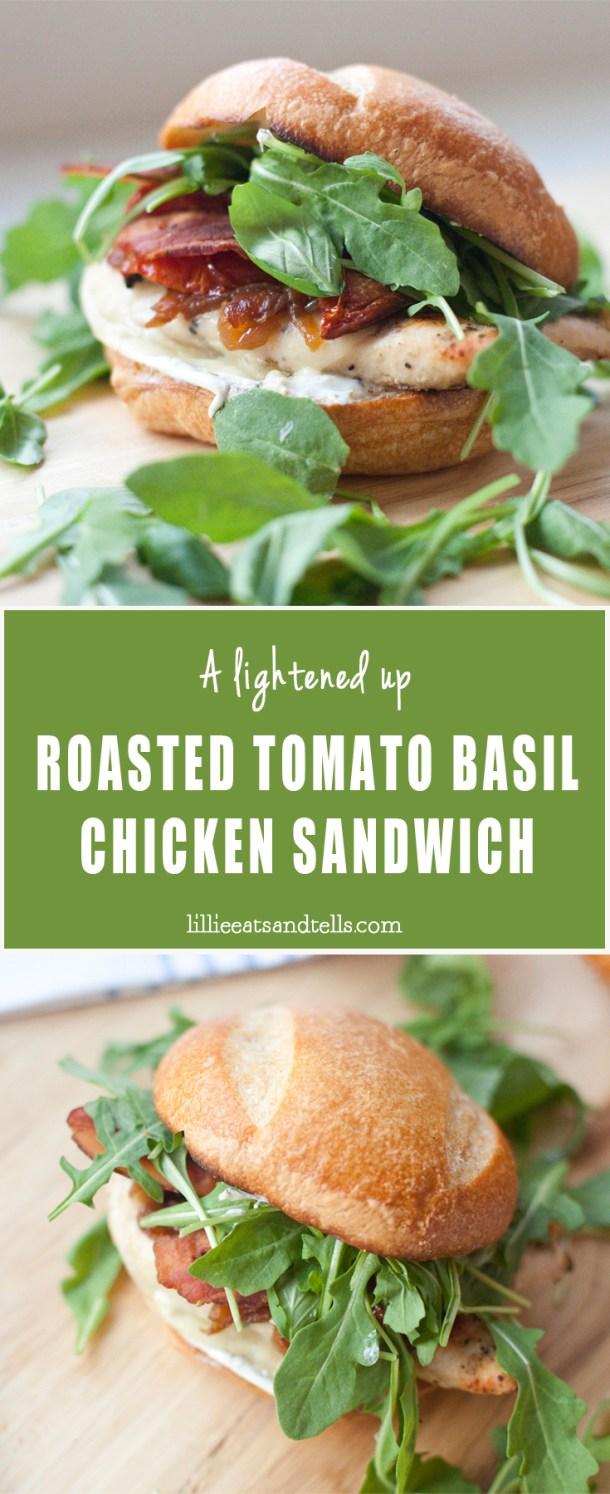 roasted tomato basil chicken sandwich- macro-friendly