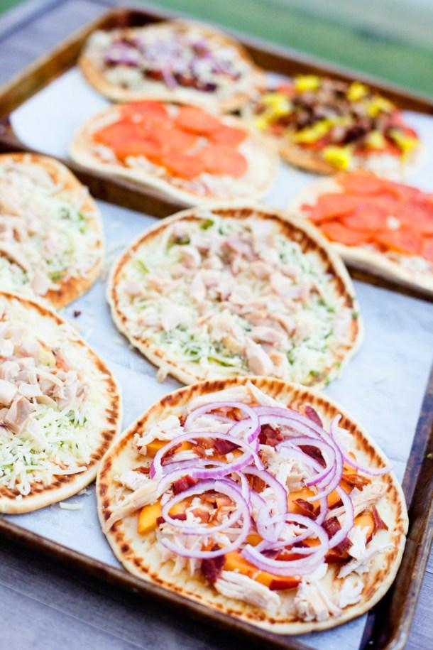 Peach and prosciutto flatbread www.lillieeatsandtells.com