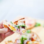 Chicken, Bacon, Peach and Blue Cheese Flatbread