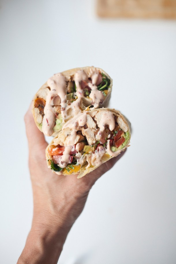 Giant Skinny Chicken Fajita Burrito www.lillieeatsandtells.com