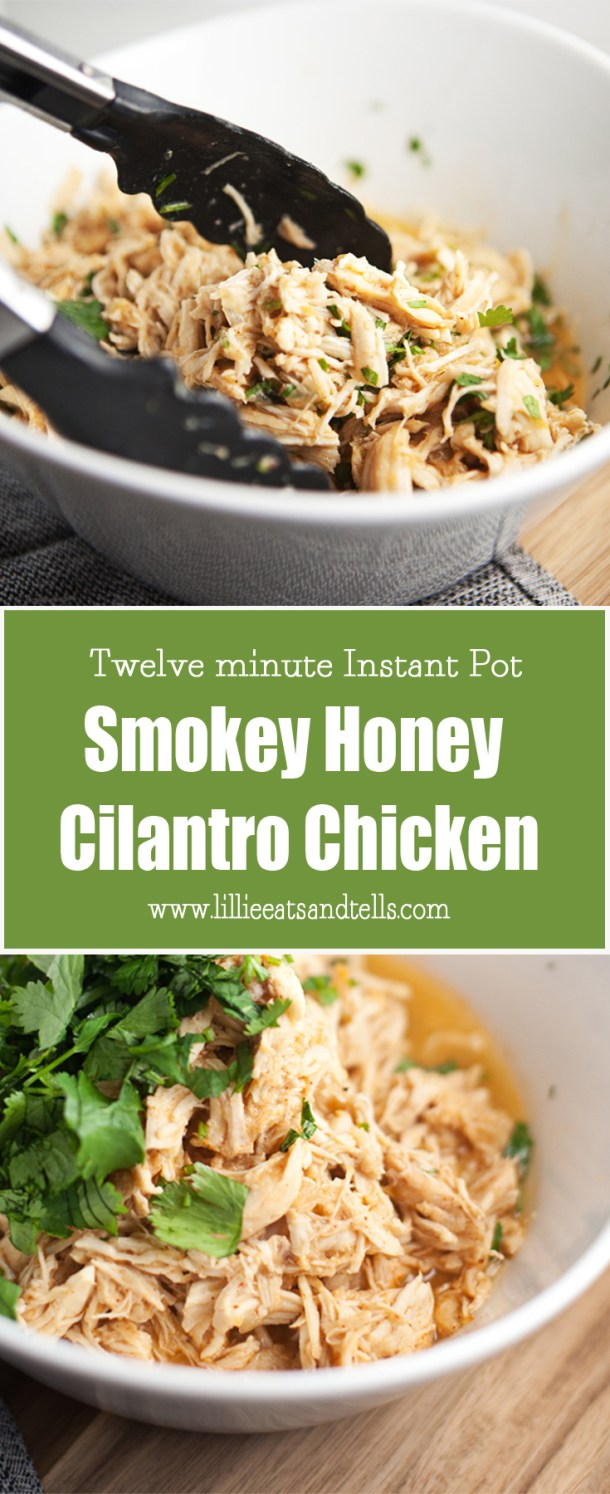 Instant Pot Honey Cilantro Chicken