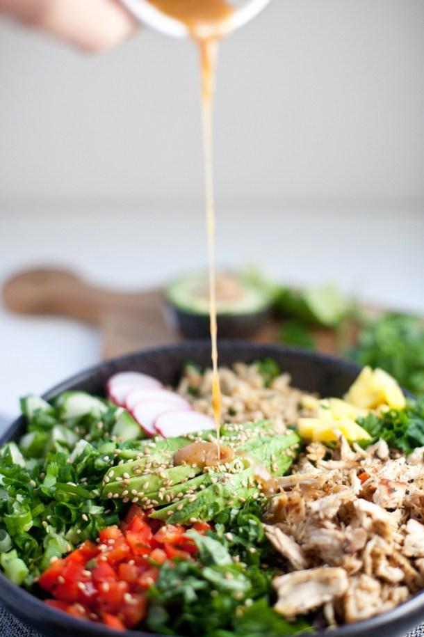 Cauliflower Rice Asian Chopped Salad www.lillieeatsandtells.com