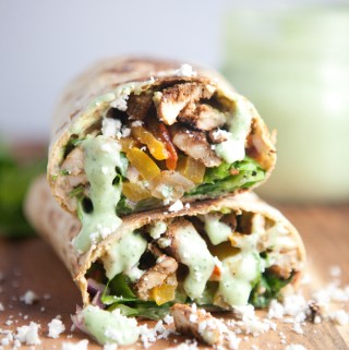 Lower Carb Lavash Fajita Burrito