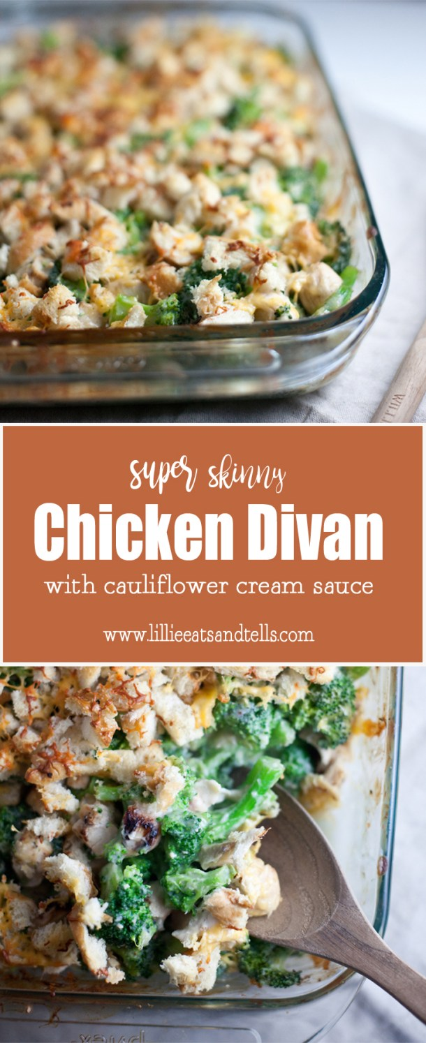 skinny chicken divan with cauliflower cream sauce www.lillieeatsandtells.com