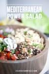 Close up shot of mediterranean lentil salad