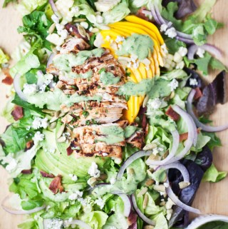 Chipotle Grilled Chicken and Mango Cobb