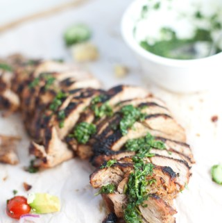Brown Sugar Spiced Pork Tenderloin with Chimichurri