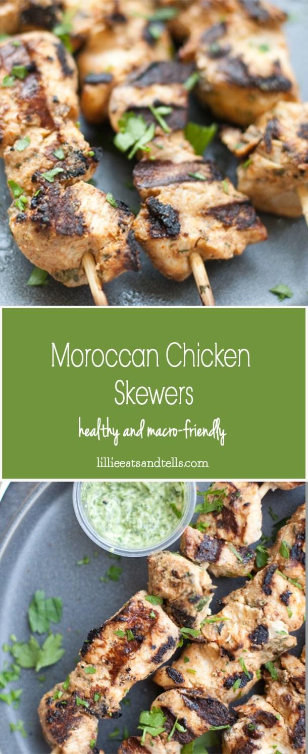Moroccan Chicken Skewers #macrofriendly #healthy #kebab