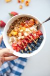 picture of yogurt bowl topped with colorful fruit