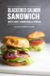 Two Salmon Sandwiches with text