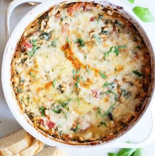 cheesy spaghetti squash bake in one pan