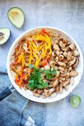 fajita chicken and veggies