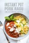 pork ragu with text for pinterest