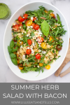 Summer Herb Salad with Bacon www.lillieeatsandtells.com