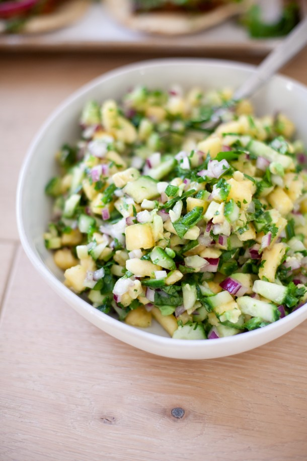 Try this pineapple salsa on lots of different things! www.lillieeatsandtells.com