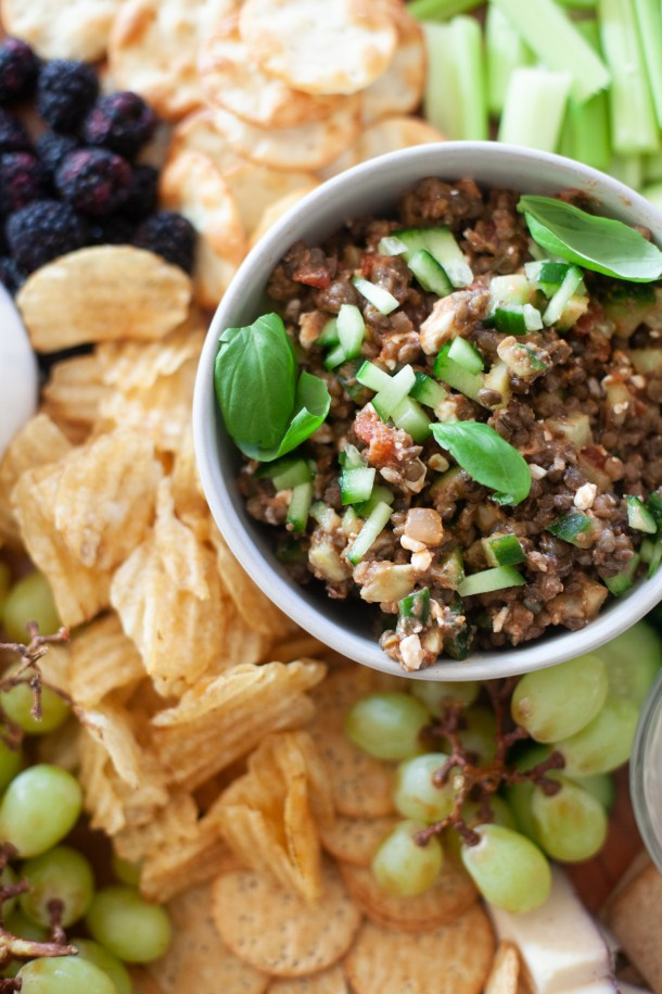 Serve this lentil dip with crackers or pita chips. www.lillieeatsandtells.com
