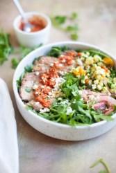 Steak and Arugula Salad Bowl