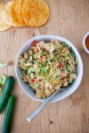 www.lillieeatsandtells.com recipe for romesco chickcen salad
