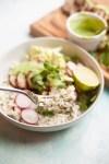 Coconut Cilantro Sticky Cauliflower Rice by www.lillieeatsandtells.com