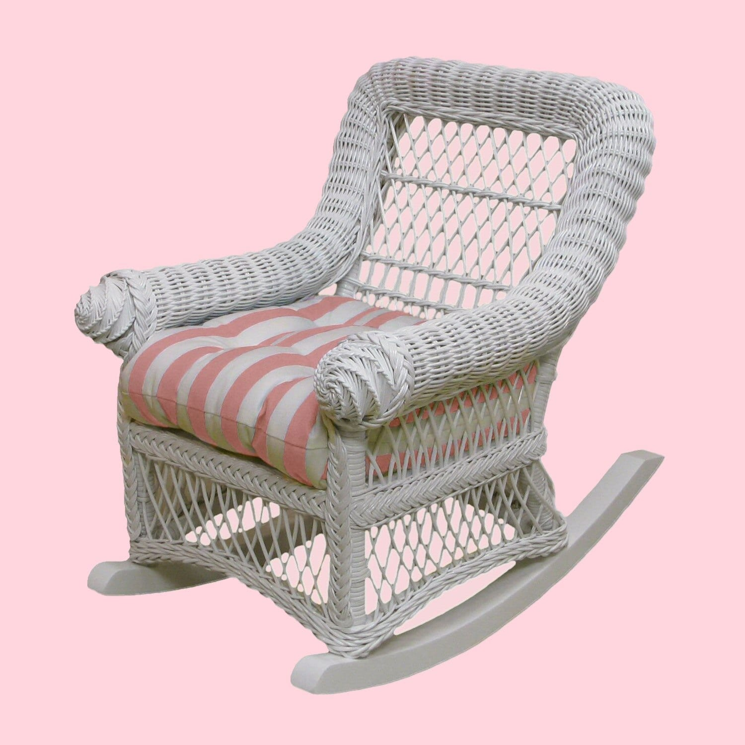 polka dot rocking chair cushions ergonomic or gaming heirloom rocker w cushion lilliput play homes