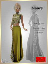 [LD] Nancy - Top & Skirt - Olive xs