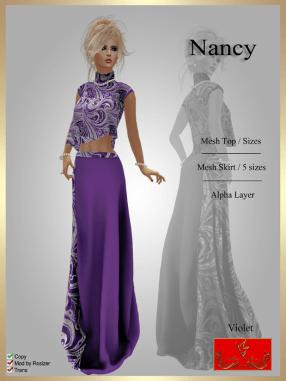 [LD] Nancy - Top & Skirt - Violet xs