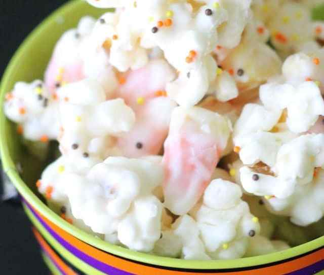 Candy Corn Popcorn Mix A Delicious Treat That All Will Love So