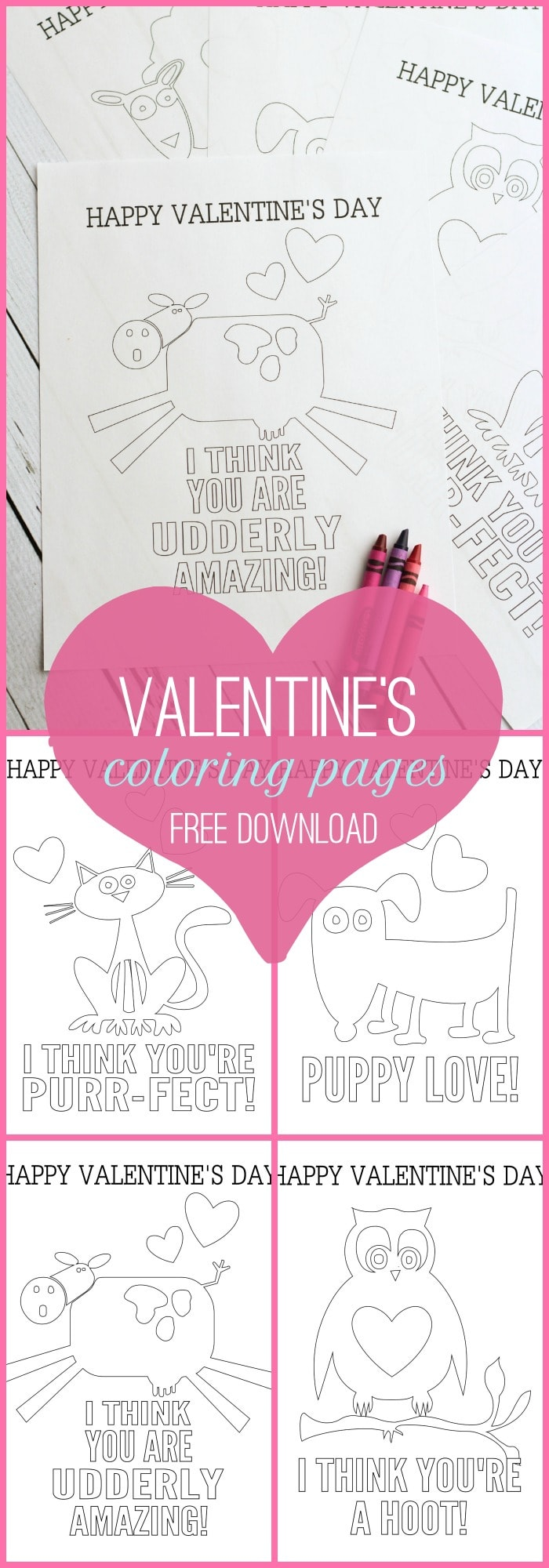 Free Valentine S Coloring Pages