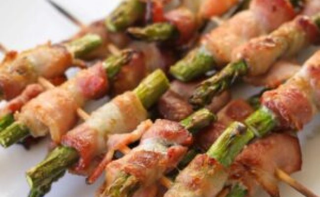 Bacon Wrapped Asparagus Skewers Lil Luna
