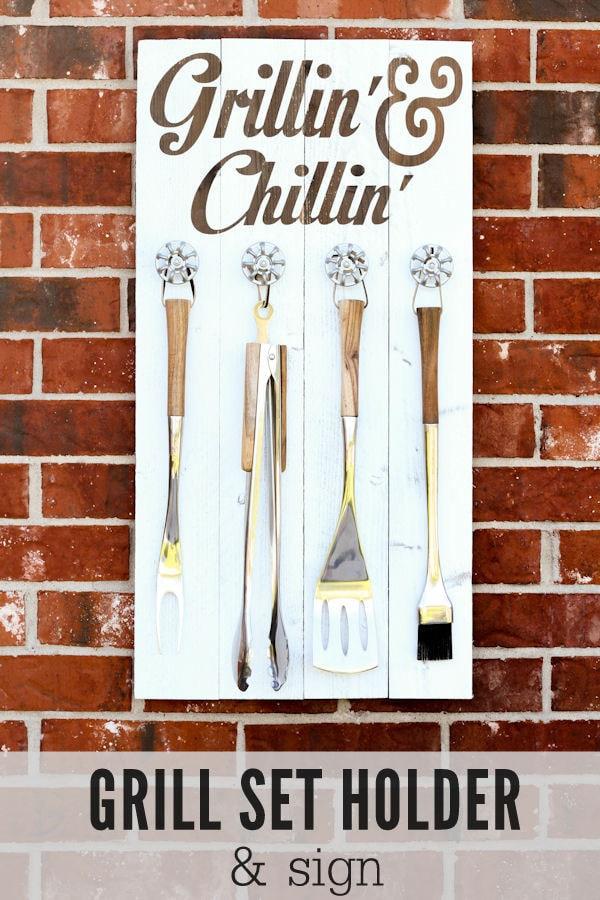 grill set holder