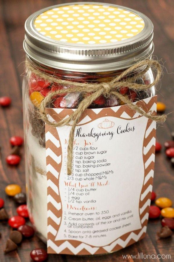 Thanksgiving Cookie Jar Gift