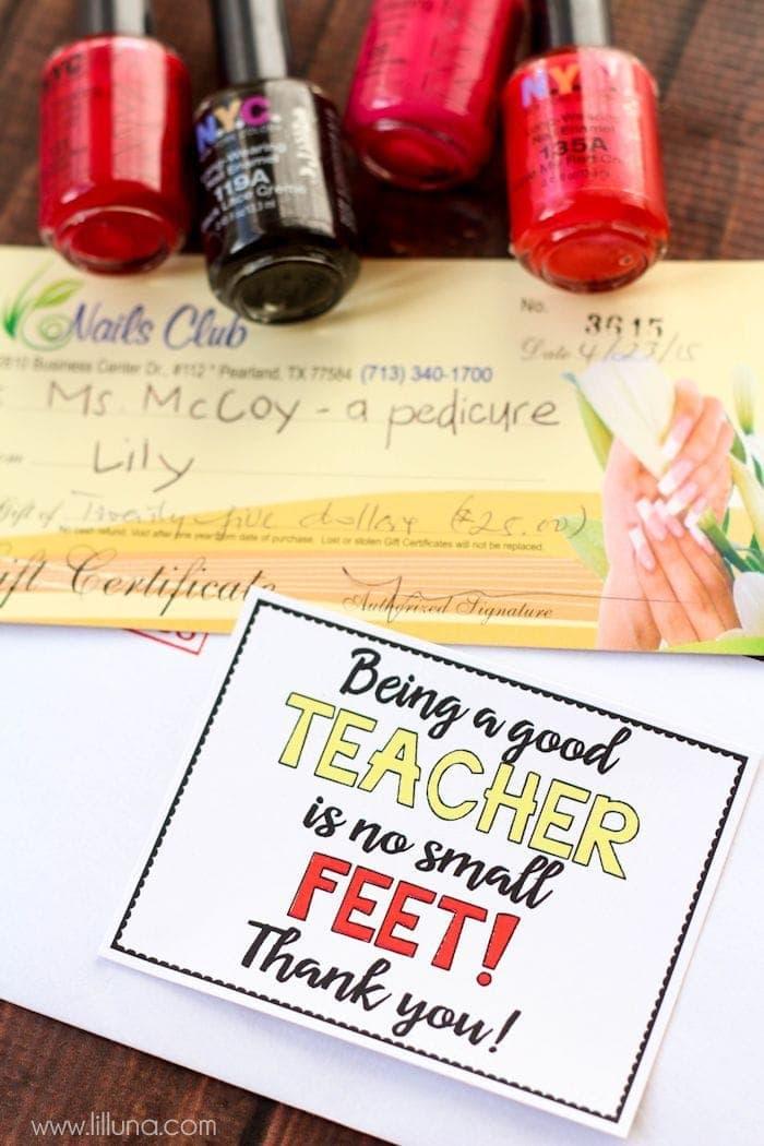 No Small FEET Teacher Gift