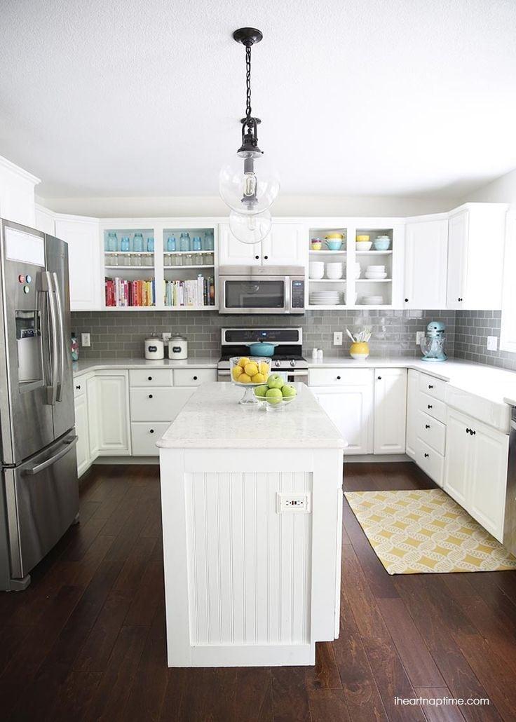 Grey And White Modern Kitchen