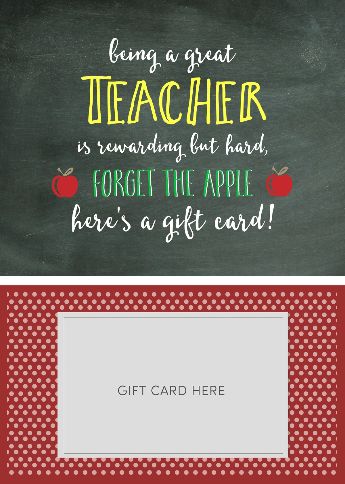 Teacher Appreciation T Card Holder