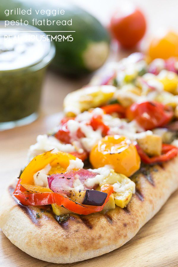 Grilled Veggie Pesto Flatbread