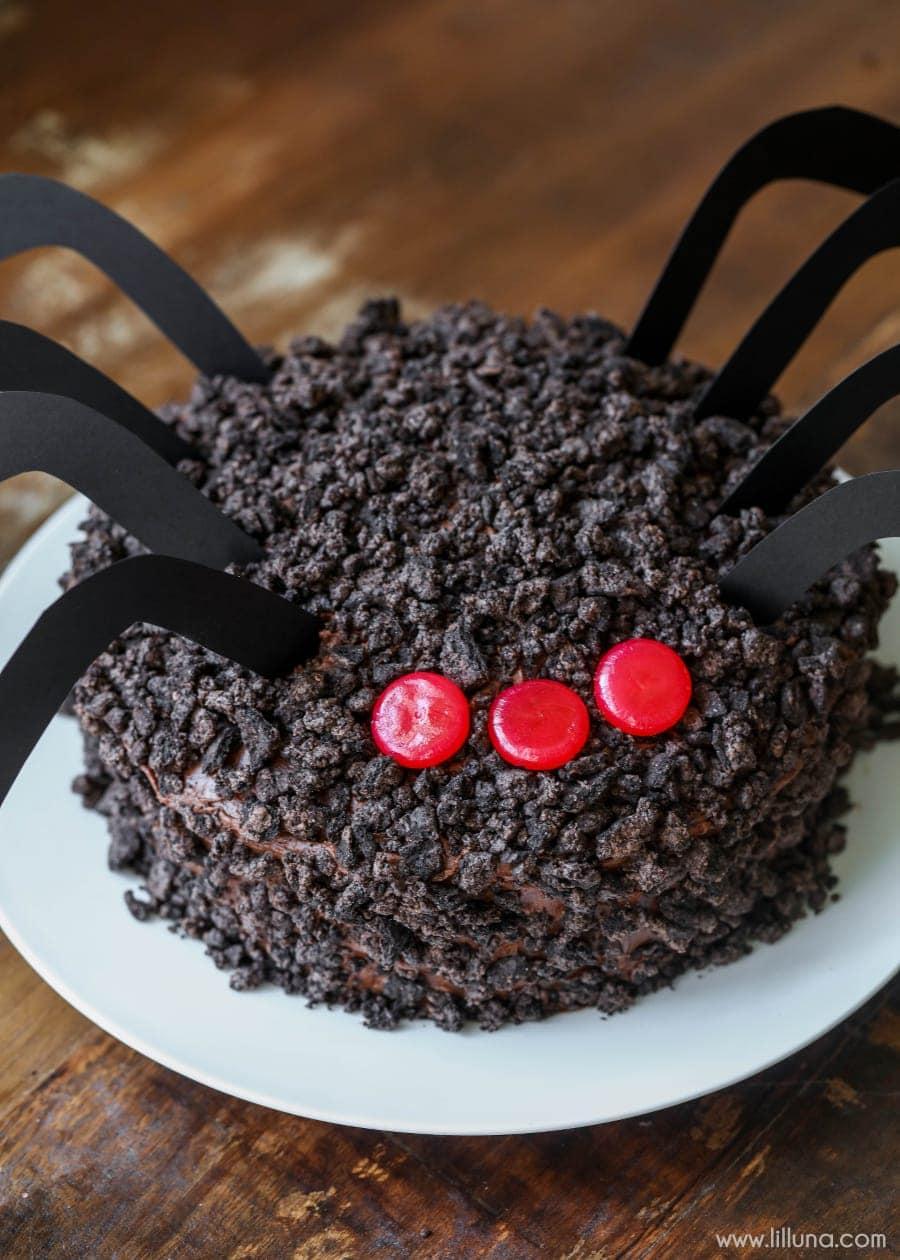Chocolate Oreo Spider Cake Lil Luna