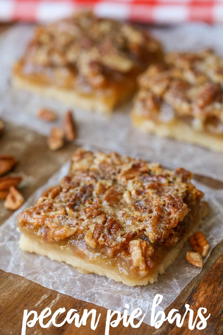 Easy Pecan Pie Bars Recipe Lil Luna