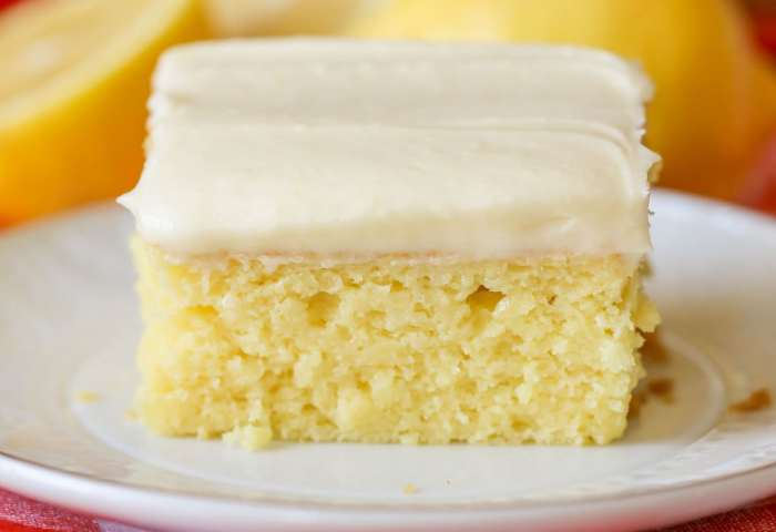 Easy Lemon Cake With Lemon Buttercream Frosting Video Lil Luna