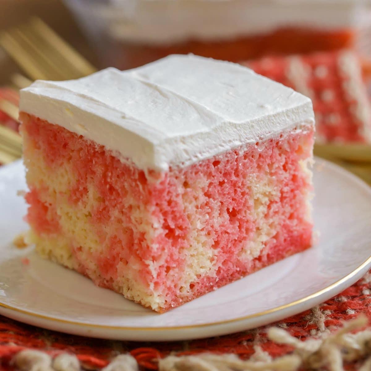 Jello Poke Cake Recipe Works With Any Flavor Of Jello Lil Luna