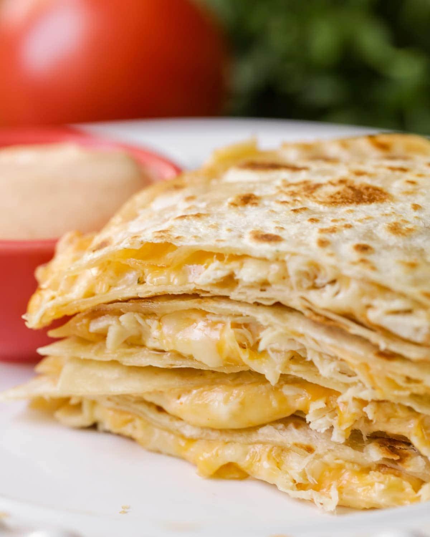 chicken cheese quesadillas