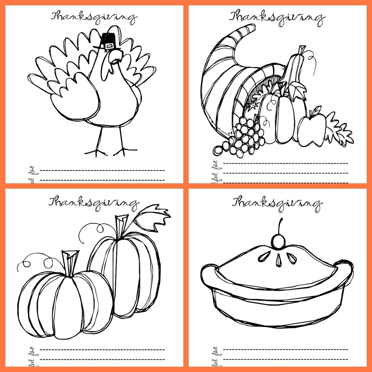 Free Thanksgiving Coloring Pages Lil Luna