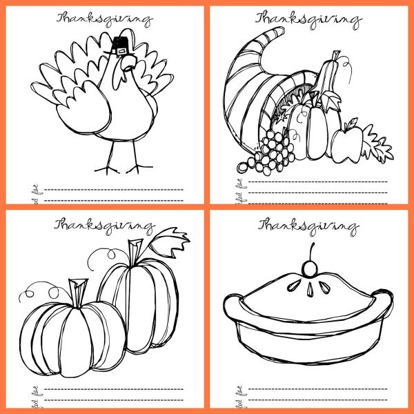 thanksgiving color pages free # 7